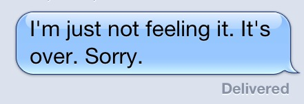 text message breakup
